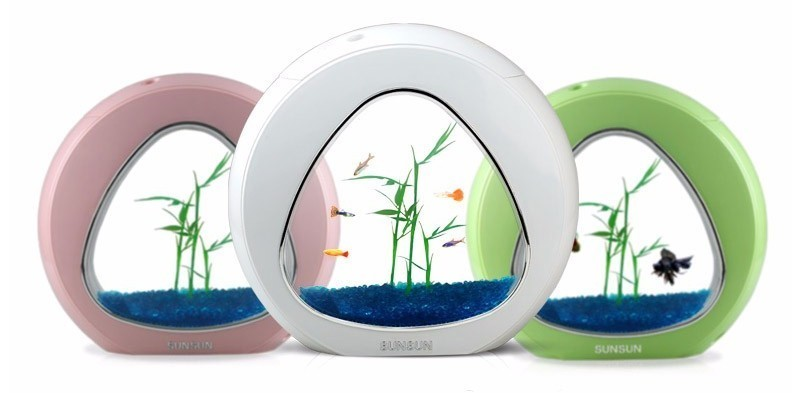 Système de lumière LED de filtre d'intégration de réservoir de poissons d'aquarium d'écologie de 110-220 v 4L pour la décoration à la maison - 2