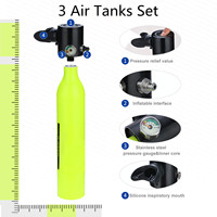 3Pcs 0.5L Scuba Oxygen Cylinder Air Tanks Diving Equipment For Snorkeling Underwater Breathing Diving Enthusiast Tank Snorkels