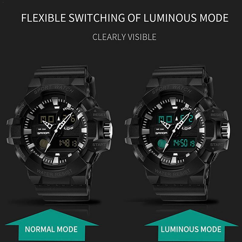Watches Men Military Army Mens Watch Reloj Led Digital Sports Wristwatch Male Gift Analog Automatic Watches Male in Digital Watches from Watches