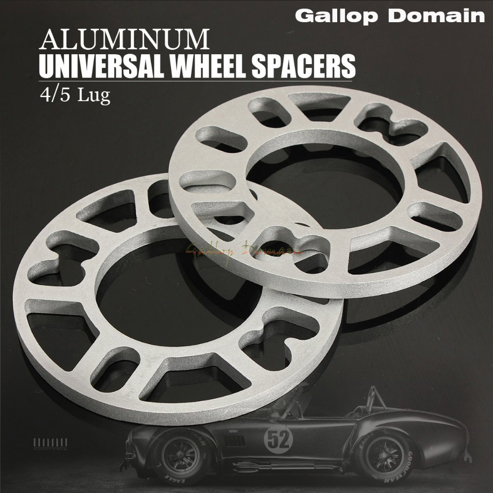 2PCS 3/5/8/10 MM ALLOY ALUMINUM WHEEL SPACERS SHIMS PLATE 4&5 STUD FIT FOR PEUGEOT FREE SHIPPING Car-Styling
