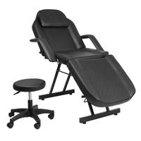 Adjustable Beauty Salon SPA Massage Bed Tattoo Chair Black Comfortable And Durable Barber Shop Tools Are Sturdy Massage Bed