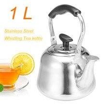 1Л чайник для воды со свистком, индукционная плита, утолщенная нержавеющая сталь, чайник для кофе, бойлер для воды, для дома, кухни, путешествий, кемпинга