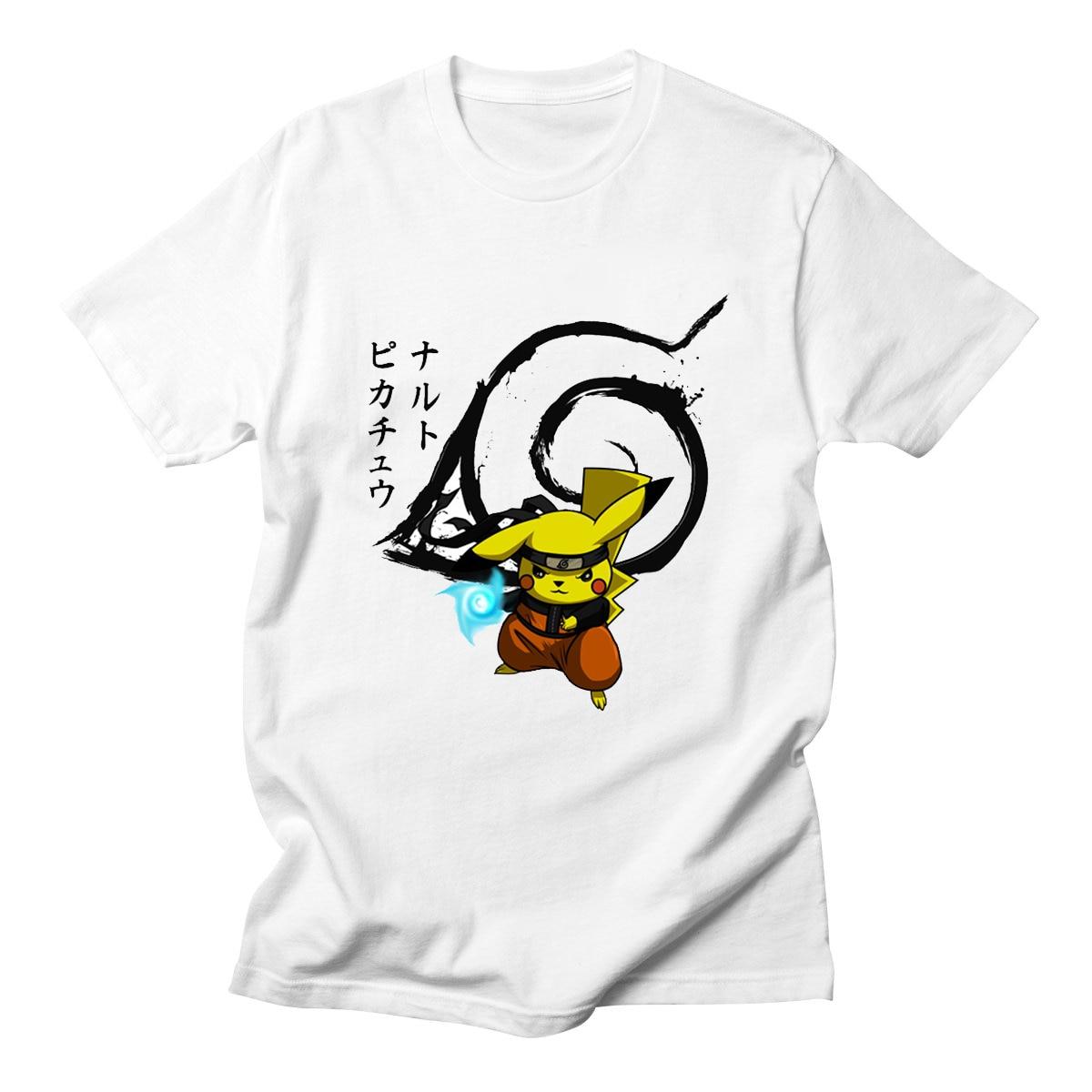 a58a7ebe4 Camiseta de Anime japonés Camiseta pokemon NARUTO Cosplay Naruto ...