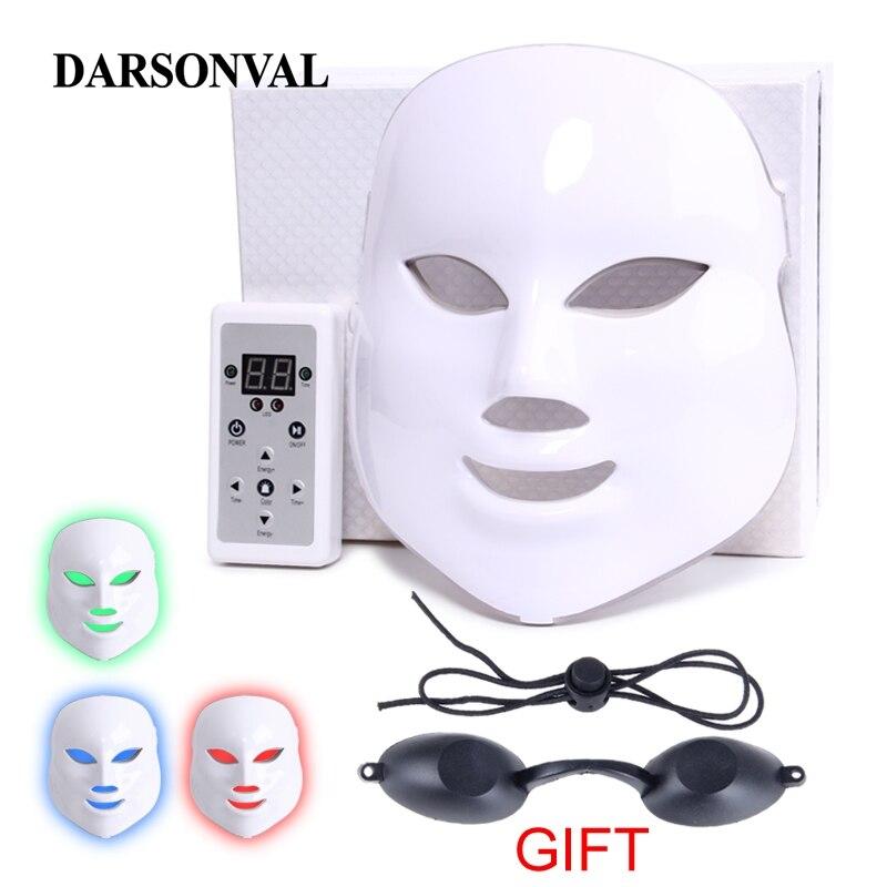 Masque led PDT lampe de thérapie masque led Beauté Micro-courant Anti machine de vieillissement Visage Rajeunissement de La Peau Anti Rides Photothérapie Spa