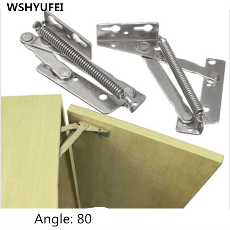 2pcs/lot supporting hinge, cabinet hardware fittings, turning woodworking hardware fittings, hinge thickening