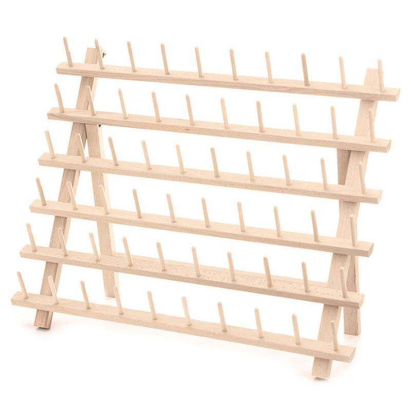 60 Axis Frame Folding Spool Storage Rack Sewing Thread Bobbin Storage Rack Can Be Placed On The Table Or Hanging On The Wall