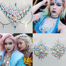 25 Styles Adhesive Sticky Gems Sticker Makeup Face Boob Jewel Crystal Festival Party Stickers For Body Art