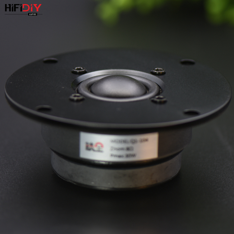 HIFIDIY LIVE hifi 4 inch Tweeter Speaker Unit Silk membrane 8OHM 30W Ball Dome Stereo home Film Treble Loudspeaker Q1-104 lonpoo bookshelf speaker pair 4 inch carbon fiber woofer and silk dome tweeter passive 2 way 75w 2 classic wooden loudspeaker