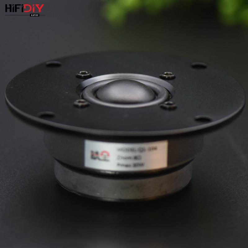 HIFIDIY LIVE Hifi 4 Inch  Tweeter Speaker Unit Silk Membrane 8OHM 30W Ball  Dome Stereo  Home  Film Treble Loudspeaker Q1-104