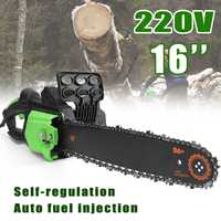 220V 2800w 16 Inch Electric Saw Woodworking Chain Bracket Tree Felling Cutting Wood Chainsaw Changed Angle Grinder Power Tools