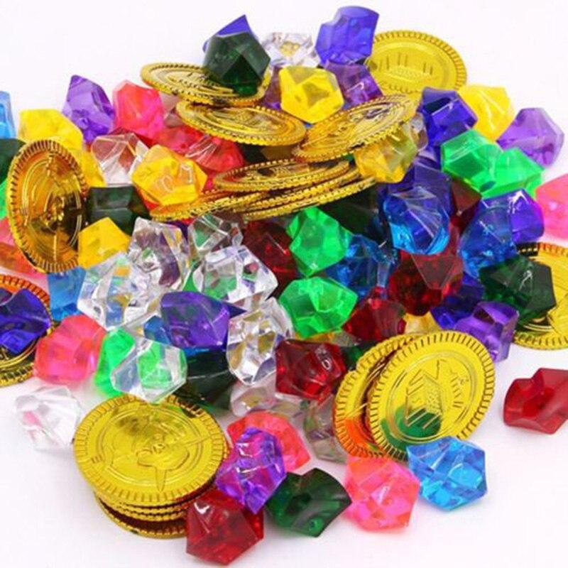 Monedas Niños Kit Diamantes 120 Unid Y Joyas Juguete Oro Gemas De Tesoro Pirata BoQrxeECdW