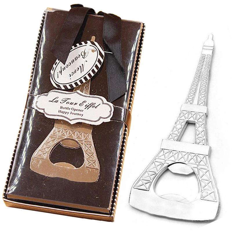 Creative Eiffel Tower Shape Beer Wine Opener Chrome Can Beer Bottle Opener Party Wedding Christmas Gift