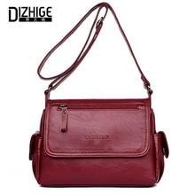 DIZHIGE роскошные сумки женские кожаные дизайнерские высокого качества женские винтажные сумки через плечо для женщин сумка через плечо откидная Sac