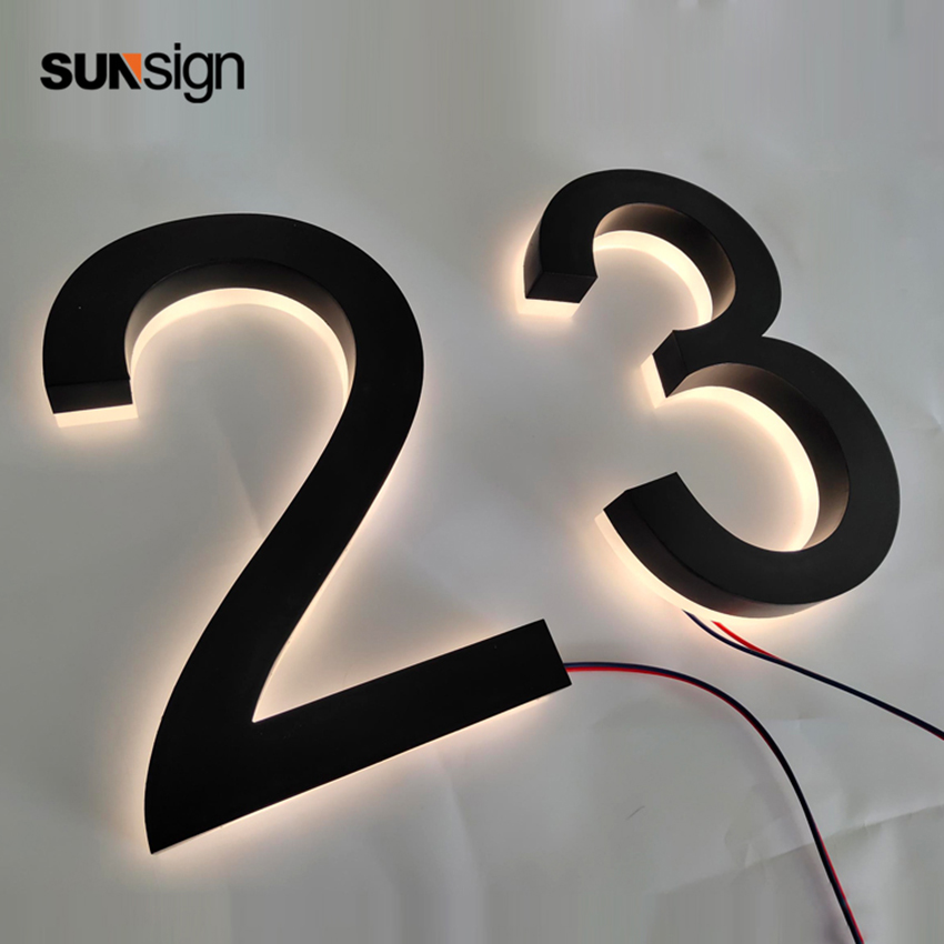 Customizable Led Back Lit Acrylic Sign Letters House Numer