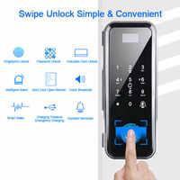 Fingerprint Lock Biometrische Türschloss Elektrische Mit Touch Tastatur Smart Card Fernbedienung Büro Glas Türschloss