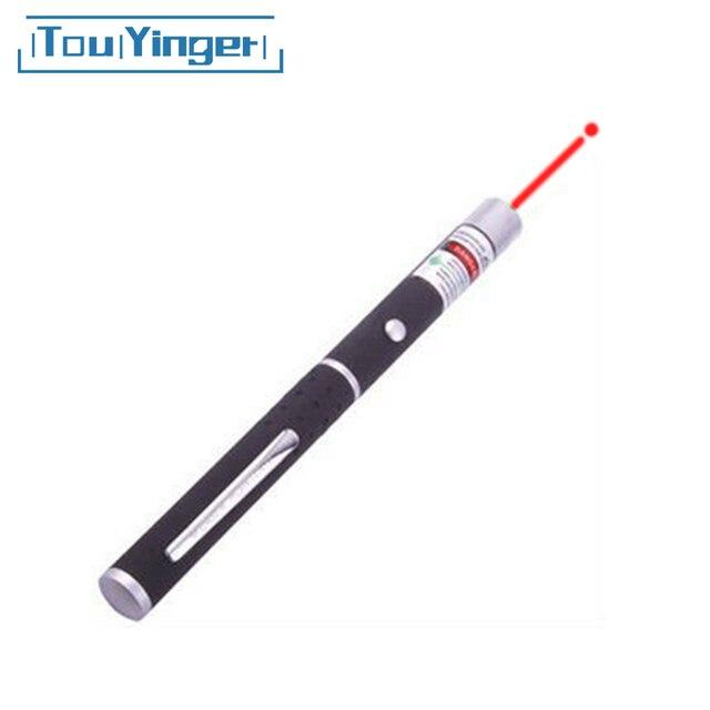 TouYinger באיכות גבוהה 5mw מקרן לייזר מצביע אדום אור לייזר עט גבוהה מופעל מגיש לייזר 1pc סיטונאי