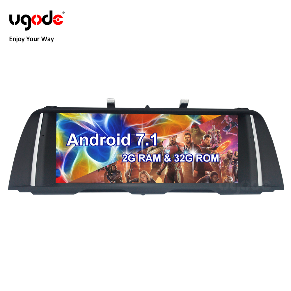 Ugode Android Car Multimedia System Stereo Player for BMW 5 Series F10 F11 NBT CIC OS 7.1 32G ROM Stock Promotion