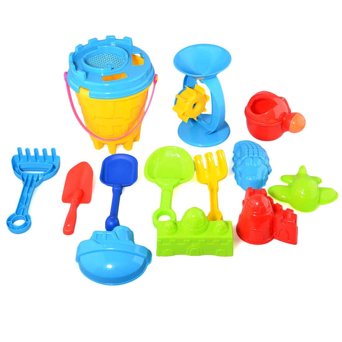 25 Pcs Set  Beach Sand Toy Set Bucket Shovels Rakes Sand Wheel Watering Can Molds Toys For Children