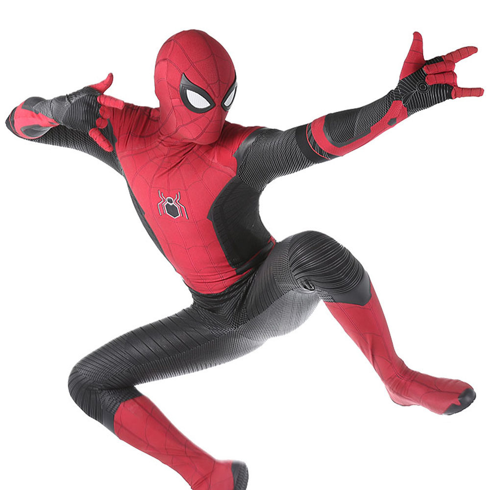 children boy Adult Kids Spider Man Far From Home Peter Parker Cosplay Costume Zentai Spiderman SuperHero Bodysuit Suit Jumpsuit