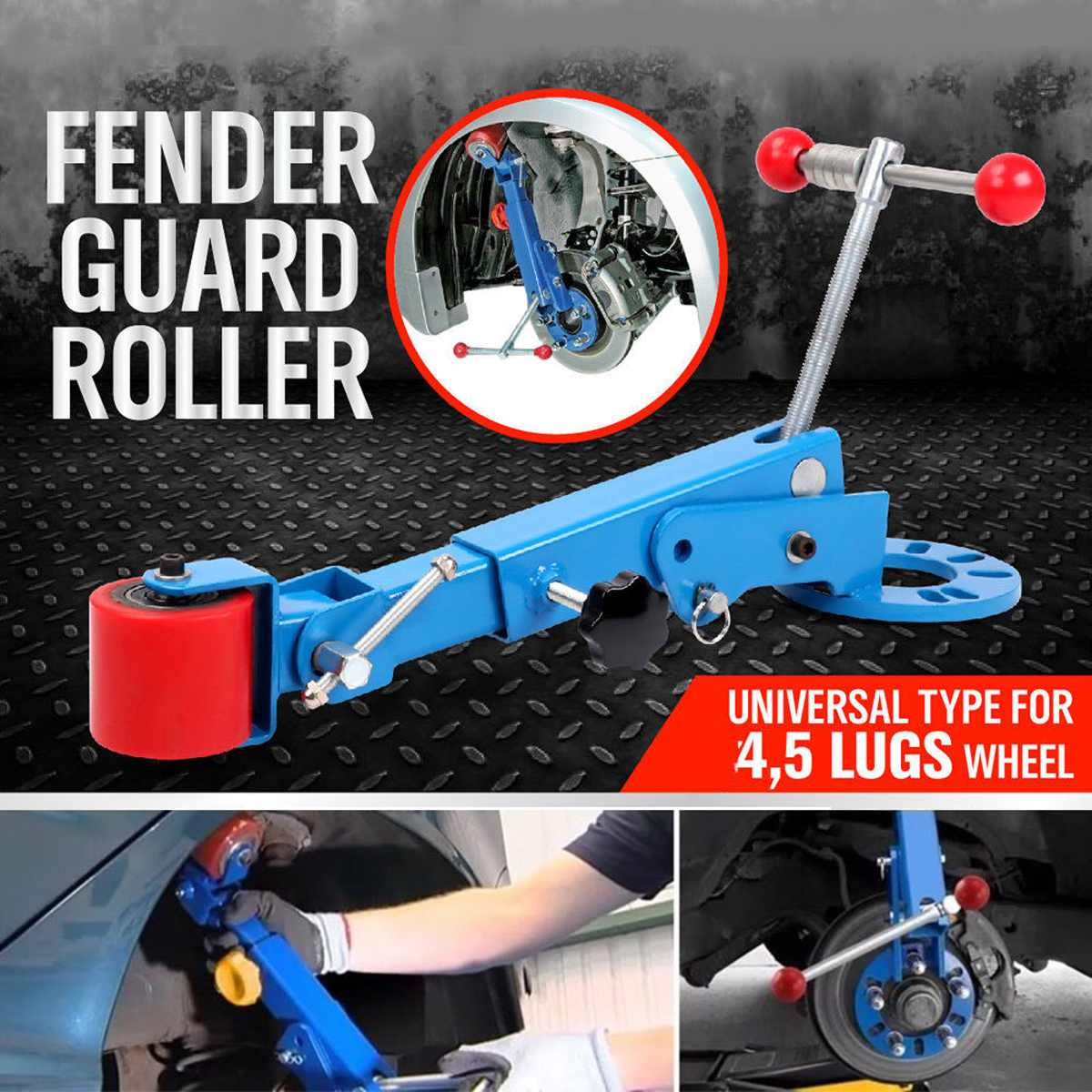 Blue Roll for Fender Reforming Extending Tool Wheel Arch Roller Flaring Former Heavy Woodworking Machinery Parts