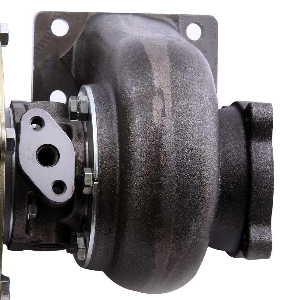 Turbocompresor GT30 GT3037 GT3076 Turbo 500bhp + líneas de alimentación de aceite de retorno de drenaje de aceite para todos los motores 6/8 cyl 3.0L 5.0L - 6