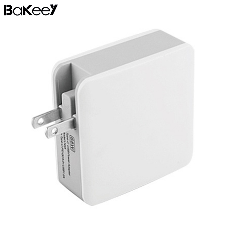 BAKEEY 68W PD Quick Charger adapter QC3.0 Type C Fast Charge Table Travel Wall Charger for iphone XS 8 Xiaomi Notebook Laptop