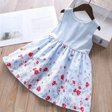 birthday dress for girls party baby frocks floral summer school cotton kids dresses clothing  children outfit