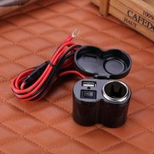 12 V-24 V мотоцикл Скутер Руль USB Зарядное устройство Водонепроницаемый синий светодиодный индикатор Прикуриватель разъем Moto аксессуары