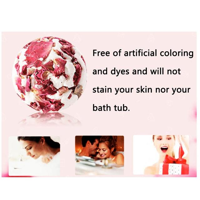 1pc Rose Essential Oil Bath Salt Ball Skin Moisturizing Soften Cuticle Relieve Fatigue Bubble Bathing Ball Bathing Supplies 5