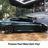 Highest quality Forest green car Vinyl Wrapping film With Air release Car Wrap Vehicle Wraps covering low initial tack adhesive