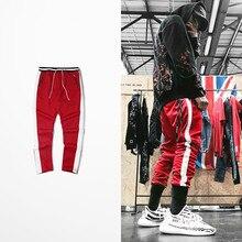 De la Calle tobillo pantalones con cremallera pantalones Patchwork bloque  de Color bolsillos pantalones 2017 Hip Hop Casual pant. 86dc83e3afa