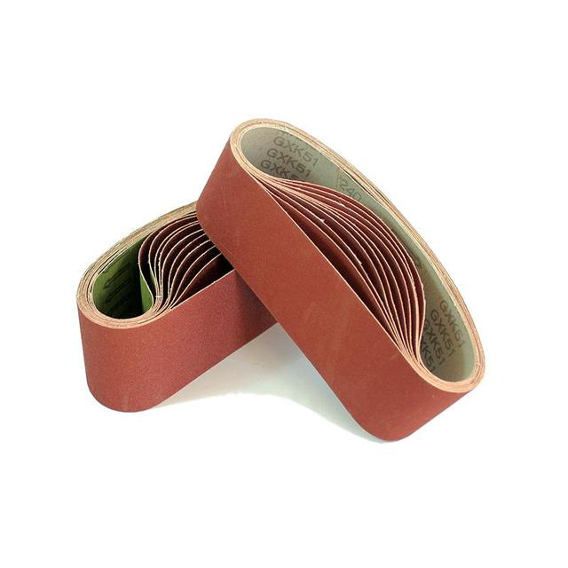 "5 pcs 75*533mm Sanding Belts 533*75mm Band 3"" 21"" Screen With Grit 40 to 600 Soft Cloth For Belt Sander"