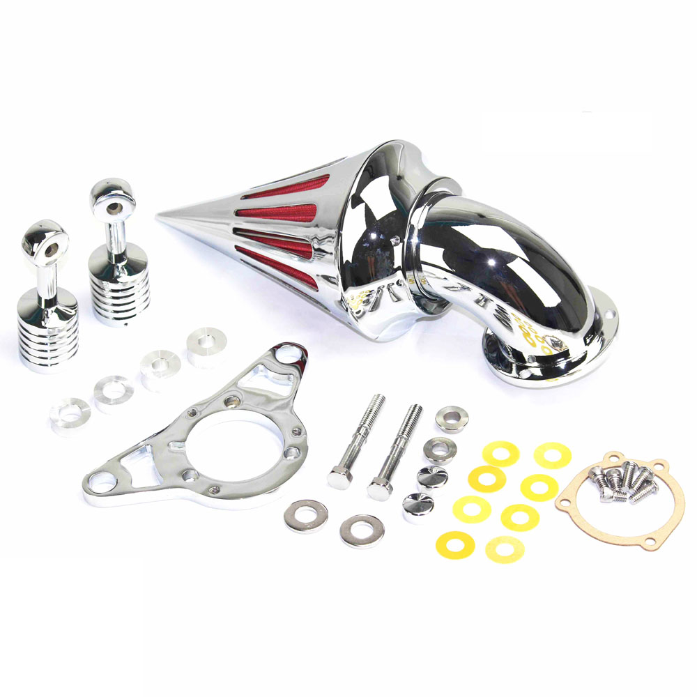 For Harley Softail Dyna Glide Touring Chrome Modified Air Cleaner Intake Filter