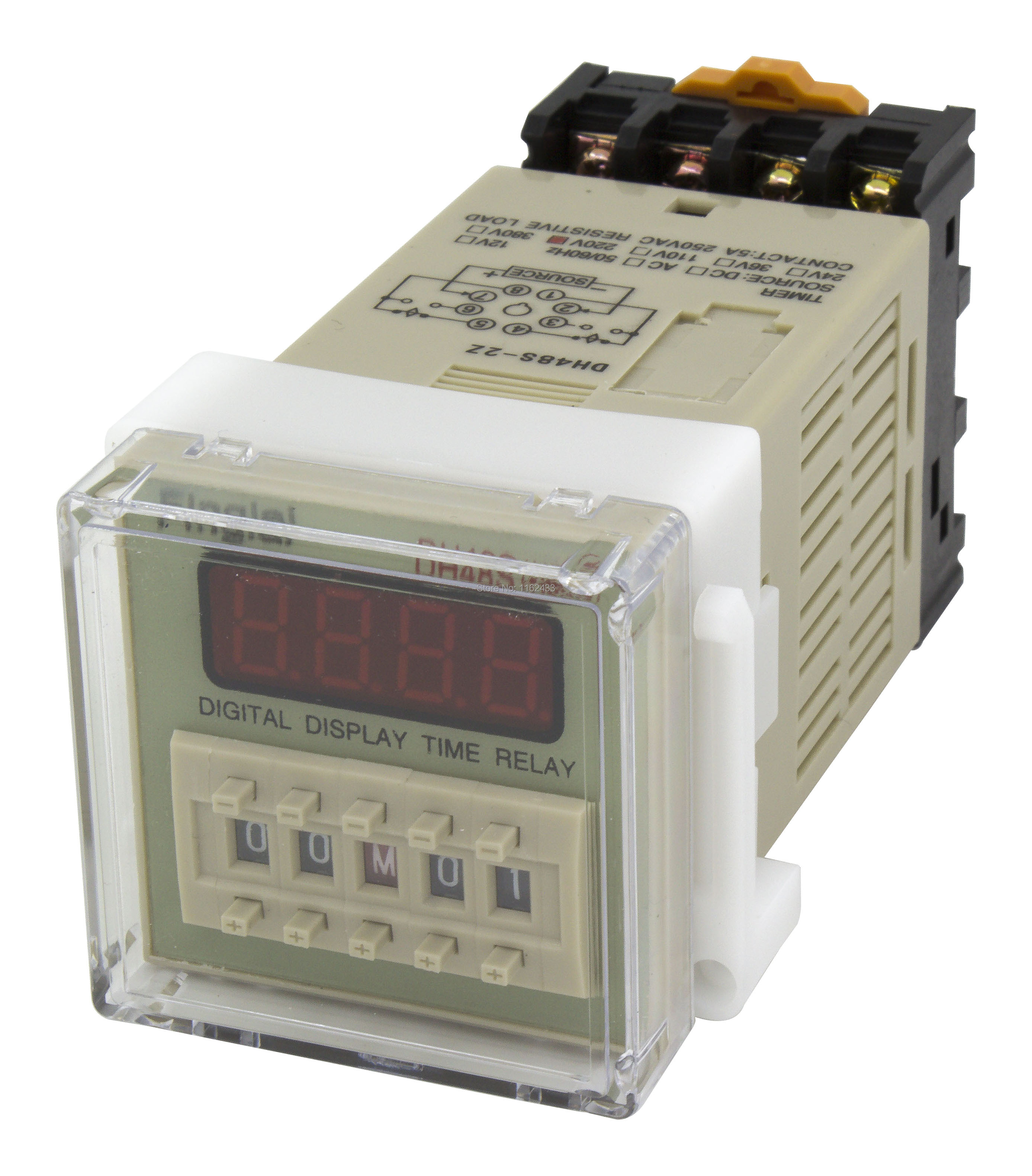 DH48S-2Z on delay DPDT time relay AC 220V 110V AC/DC 24V 12V with socket DH48S series delay timer with baseDH48S-2Z on delay DPDT time relay AC 220V 110V AC/DC 24V 12V with socket DH48S series delay timer with base