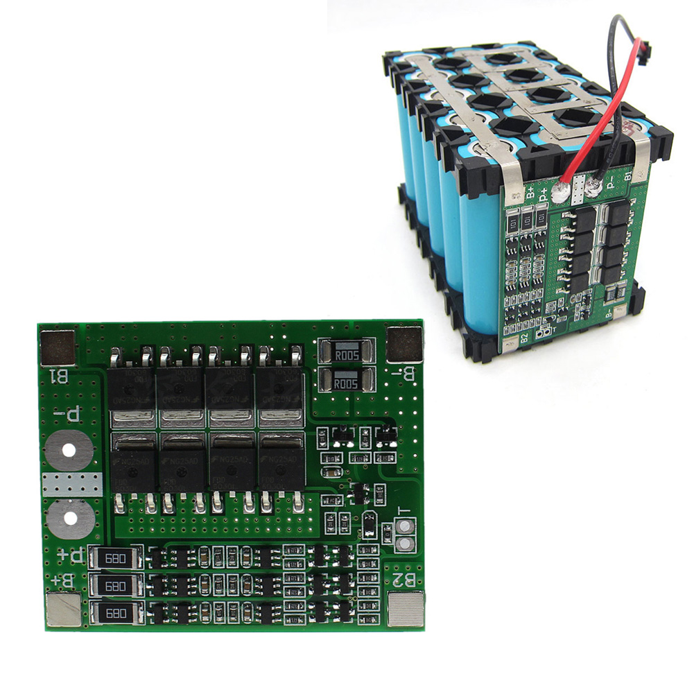 12V Module Durable Short Circuit With Balance Prevent Over-discharge Protection Board Lithium Battery 3S