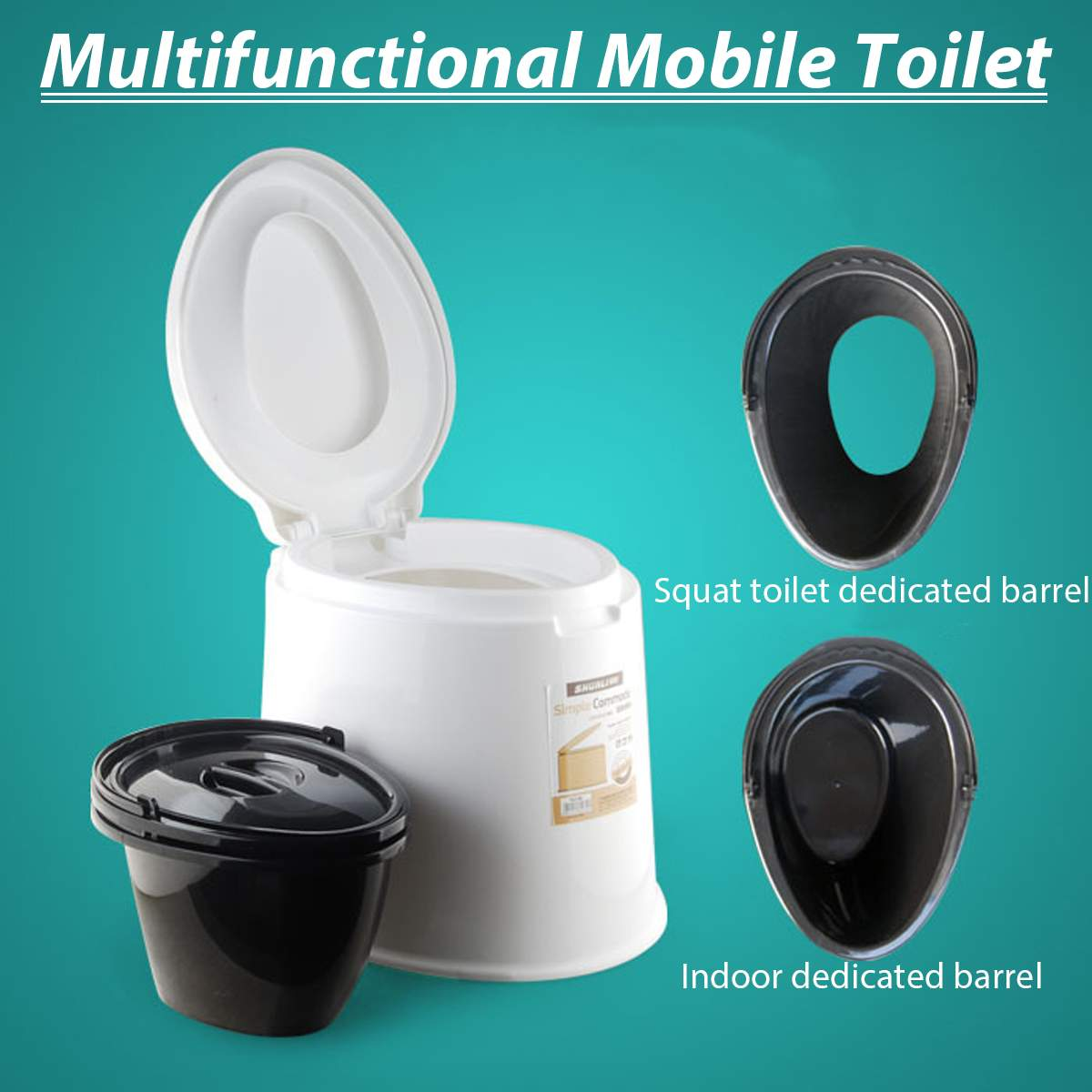 6l Tragbare Toilette Camp Wc Camping Outdoor-tool Double Barrel Fabriken Und Minen
