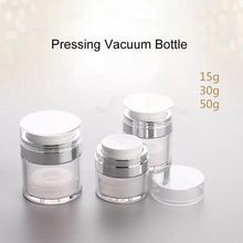 1pcs 15g 30g 50g Cosmetic Jar Empty Acrylic Cream Cans,Vacuum Bottle,Press Cream Jar,Sample Vials,Airless Cosmetic Container 25 3g cream galley proof bottle box on trial dress transparent cjb01 empty cans cosmetic sample containers cjb01