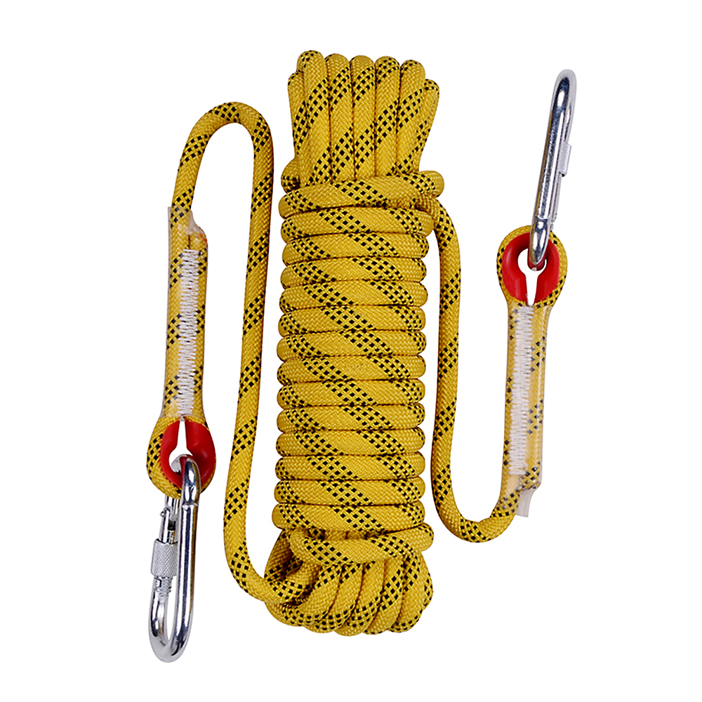 30M 12mm 70 Strands Outdoor Rock Climbing Parachute Rope Fire Escape Rope Safety Rescue Rope Caving
