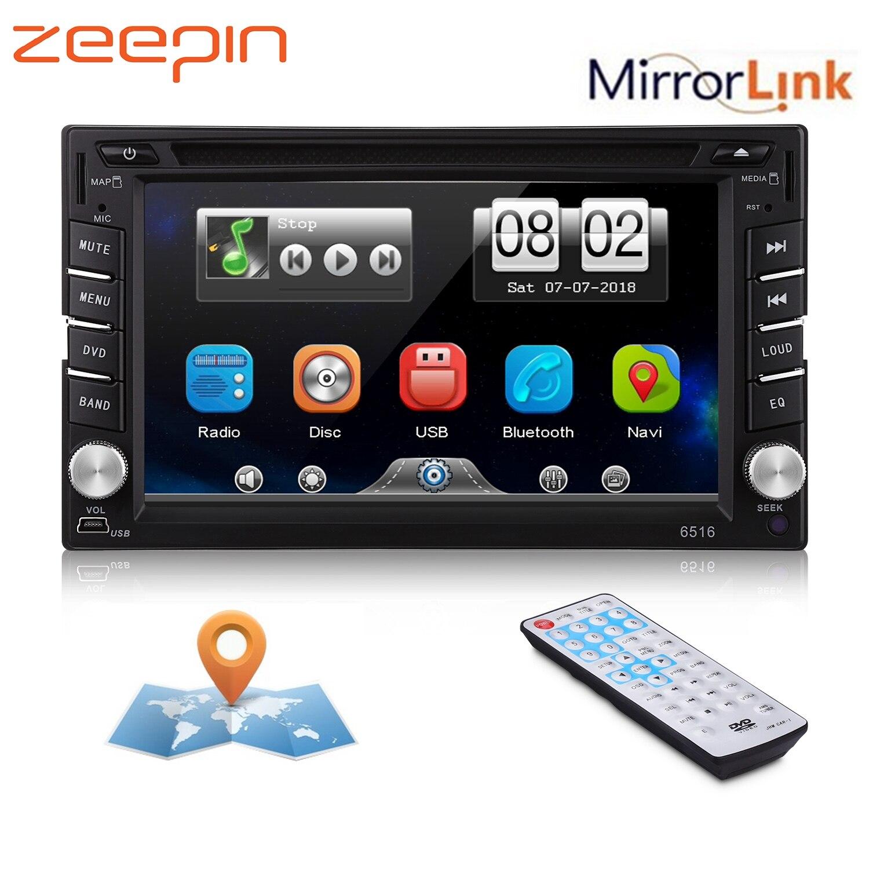 6 2 Car Dvd Player Gps Bluetooth Am Fm Stereo Audio Auto Radio
