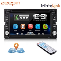 Double 2 DIN HD 6.2 Touch Screen Car DVD Player Bluetooth GPS Sat Nav Stereo Radio Wireless Remote AM/FM Radio Car DVD Player