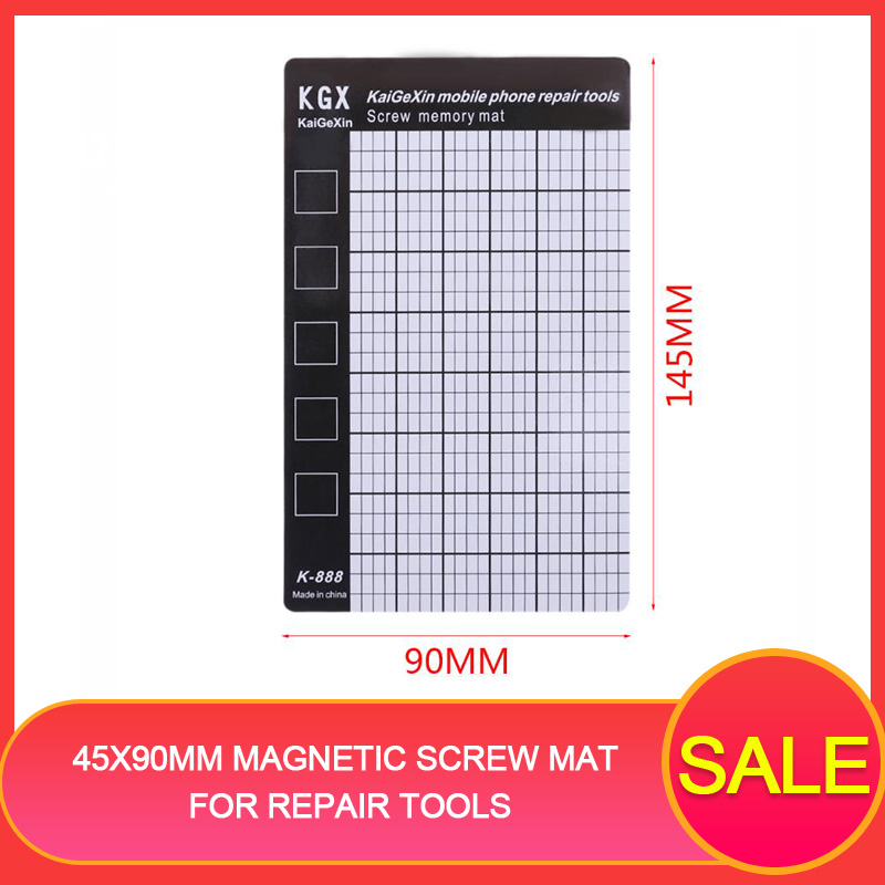 Bakeey 145x90mm Magnetic Screw Mat Phone Tablet Repair Tools Screws Storage Mat Memory Chart Working Pad For Iphone For Samsung