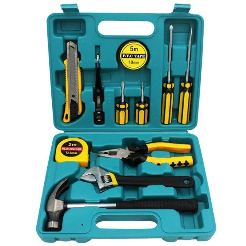 Home Tool Set Repair Tool Kit 12Pcs Set Multi Tool Ferramentas Hardware Greentool Box Hand Tool Set Screwdriver Bits Set in Screwdriver from Tools