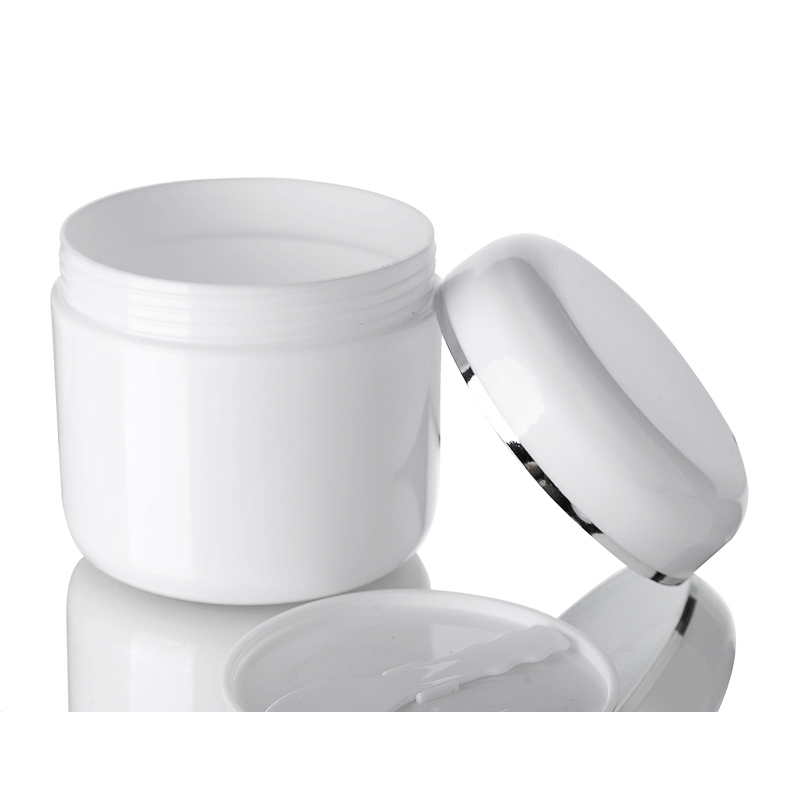 300g wholesale jars and bottles for cosmetics beautiful makeup packaging 300ml 10oz white silver neck packaging