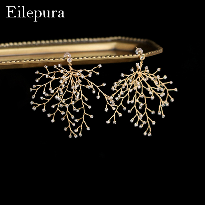 Eilepura Vintage Design Natural Fresh Water Pearl Flower Earring For Women Party Wedding Gift Pins Stud Earrings Jewelry E-A010