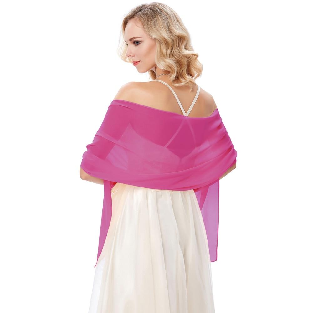 Charming Women Long Chiffon Shawl Bolero   Scarf   Wedding Party   Wrap   Shrug Cover Up