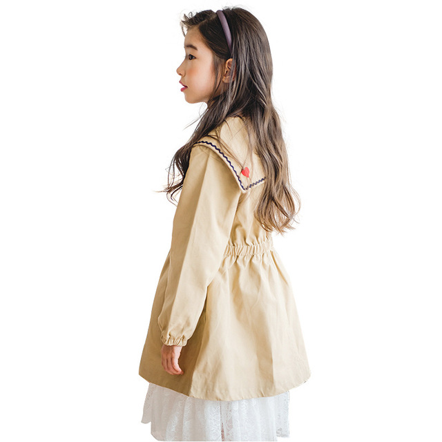 fee8fb230b 2019 new spring long coat age for 6 - 14 yrs teenage girls school style  outfits