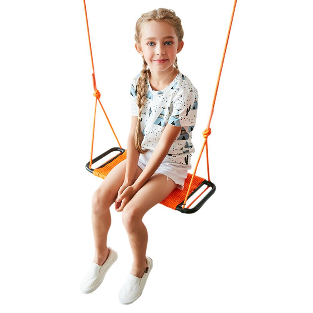 Balançoire Orange intérieure et extérieure corde carrée balançoire jouet drôle pour enfants enfants