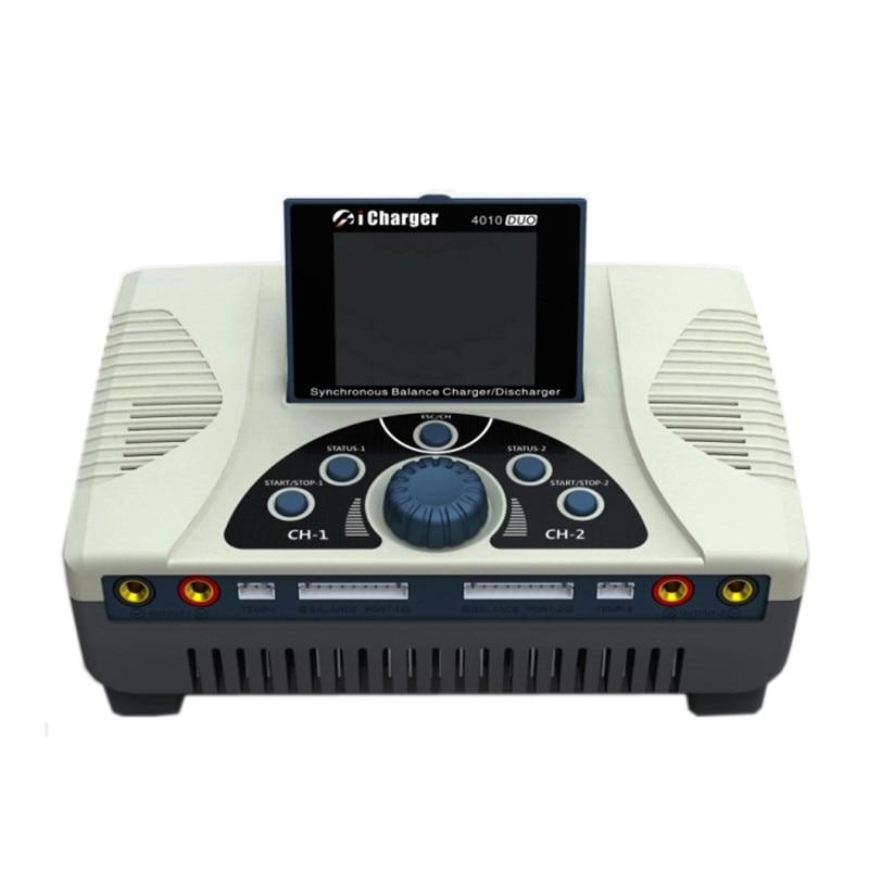Haute qualité iCharger 4010 Duo 2000 W 40A DC double batterie Balance chargeur chargeur pour 1-10 S Lipo batterie