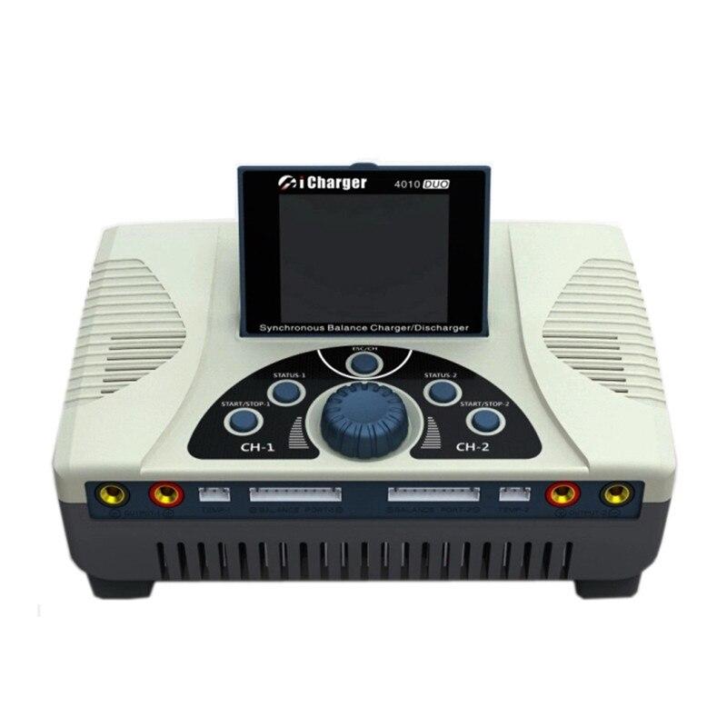 ICharger 4010 Duo de alta Qualidade 2000 W 40A DC Dupla Lipo Battery Charger Balance Descarregador para 1-10 S bateria