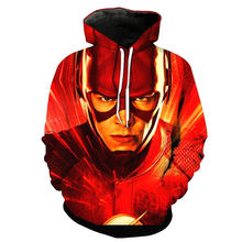 3d print 2019 funny Fashion Sweatshirt Men / Women Hoodies The Flash hero anime pattern Slim Unisex Slim Stylish Hooded Hoodies(China)